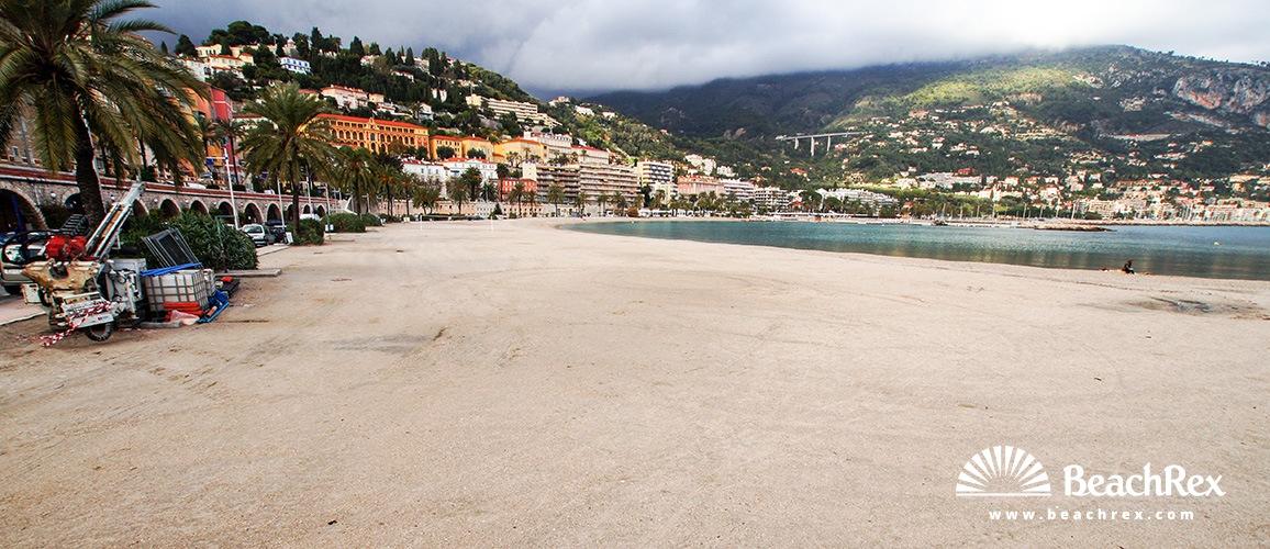 France - AlpesMaritimes -  Menton - Beach Sablettes