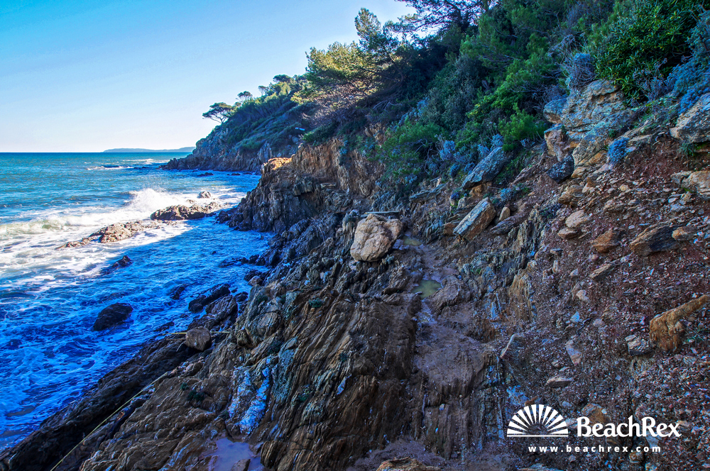 France - Var -  Bormes-les-Mimosas - Beach de Porto Fino