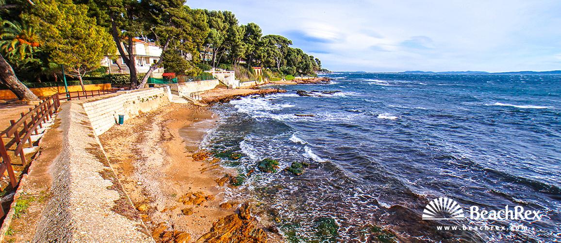 France - Var -  Carqueiranne - Beach Frédéric Chopin