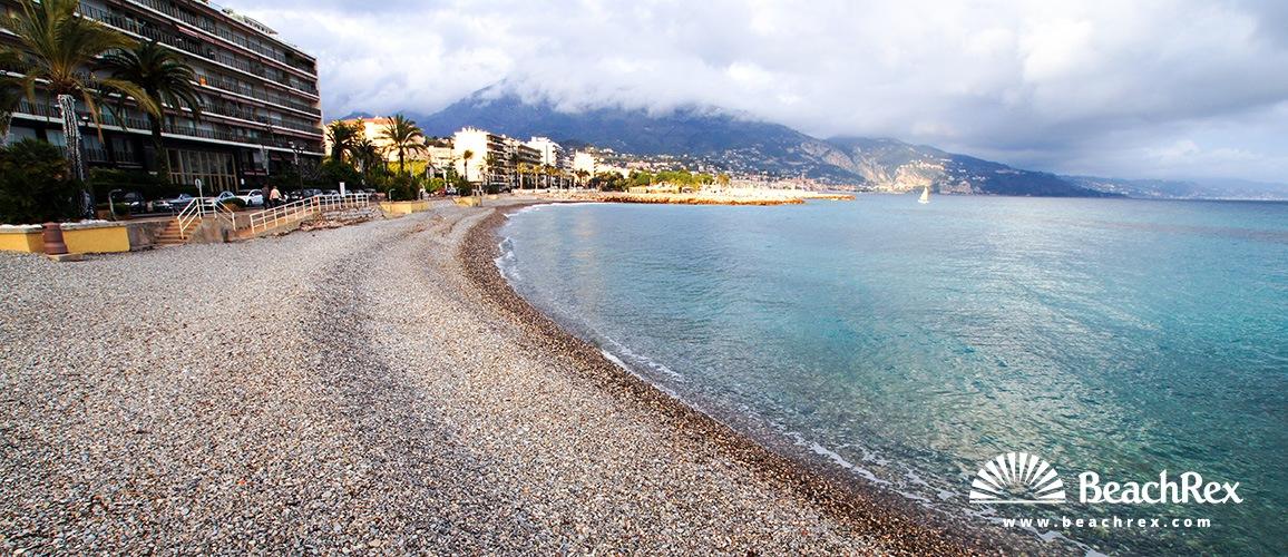 France - AlpesMaritimes -  Roquebrune-Cap-Martin - Beach Carnoles