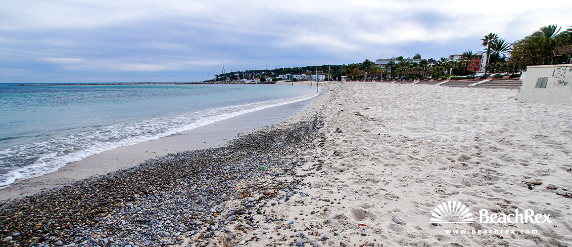 France - AlpesMaritimes -  Antibes - Beach Ponteil