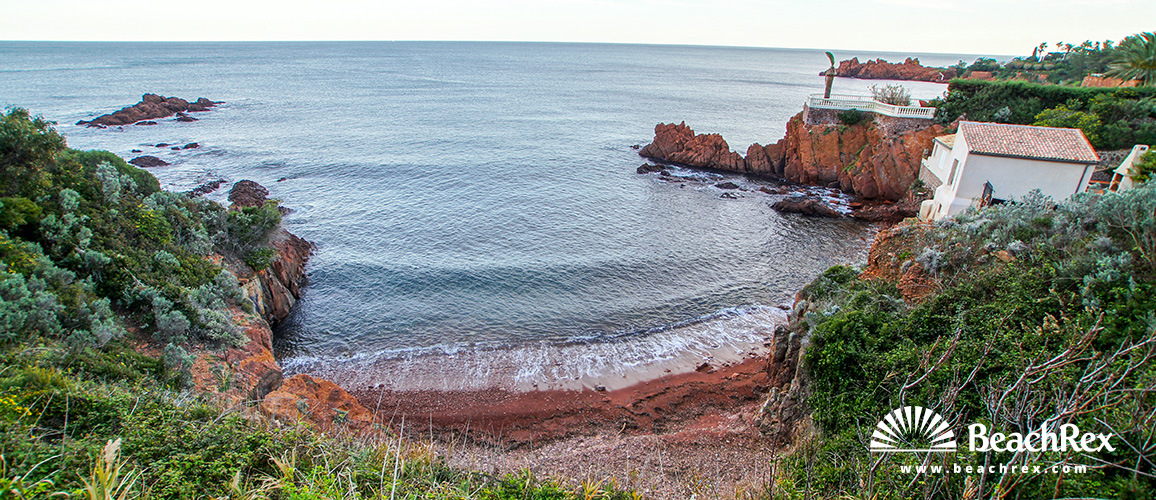 France - Var -  Saint-Raphaël - Beach le Trayas