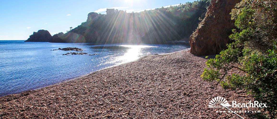 France - Var -  Saint-Raphaël - Beach du Maubois