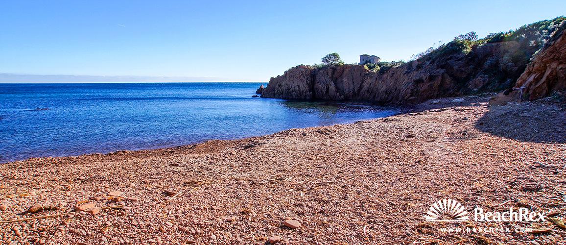 France - Var -  Saint-Raphaël - Beach Cap Roux