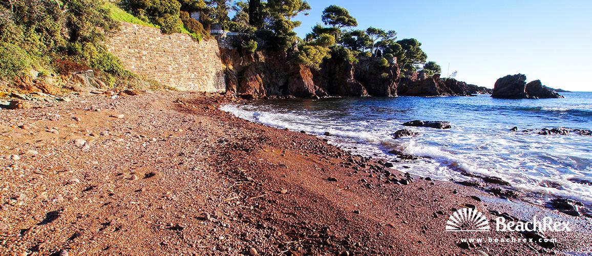 France - Var -  Saint-Raphaël - Beach Crique Baumette