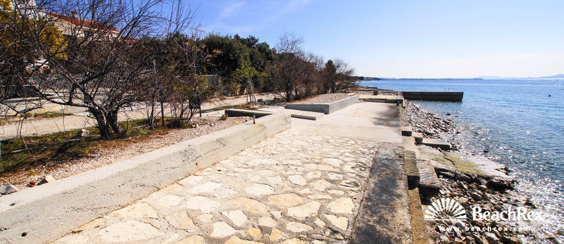 Croatia - Dalmatia  Zadar -  Kožino - Beach Kožino