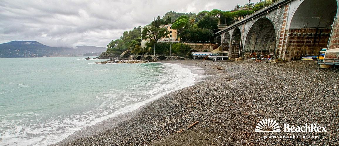 Italy - Liguria -  Zoagli - Beach Zoagli