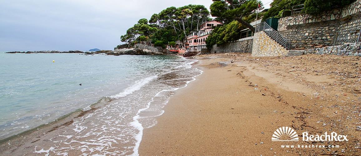 Italy - Liguria -  Fiascherino - Beach Fiascherino