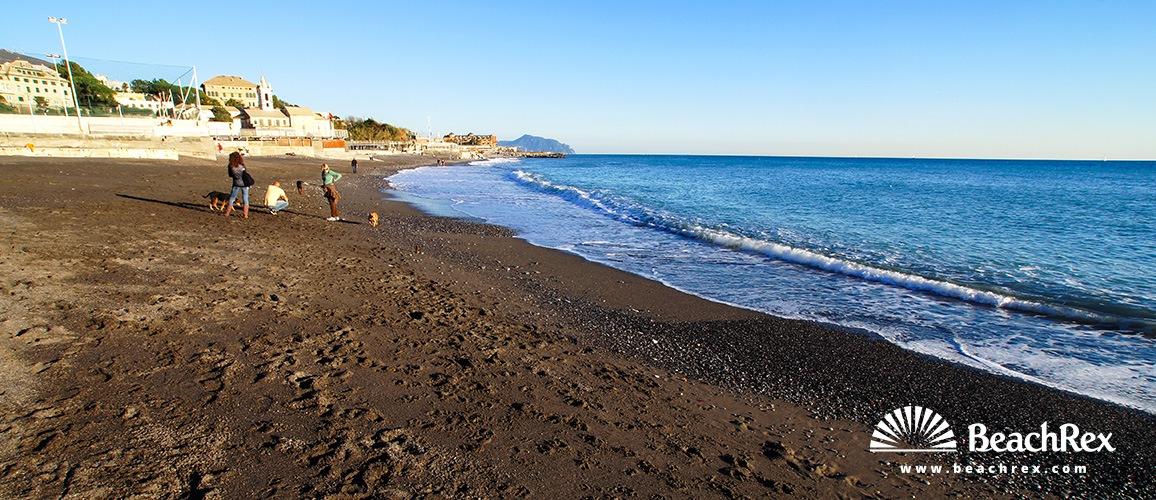 Italy - Liguria -  Genova - Beach Albaro