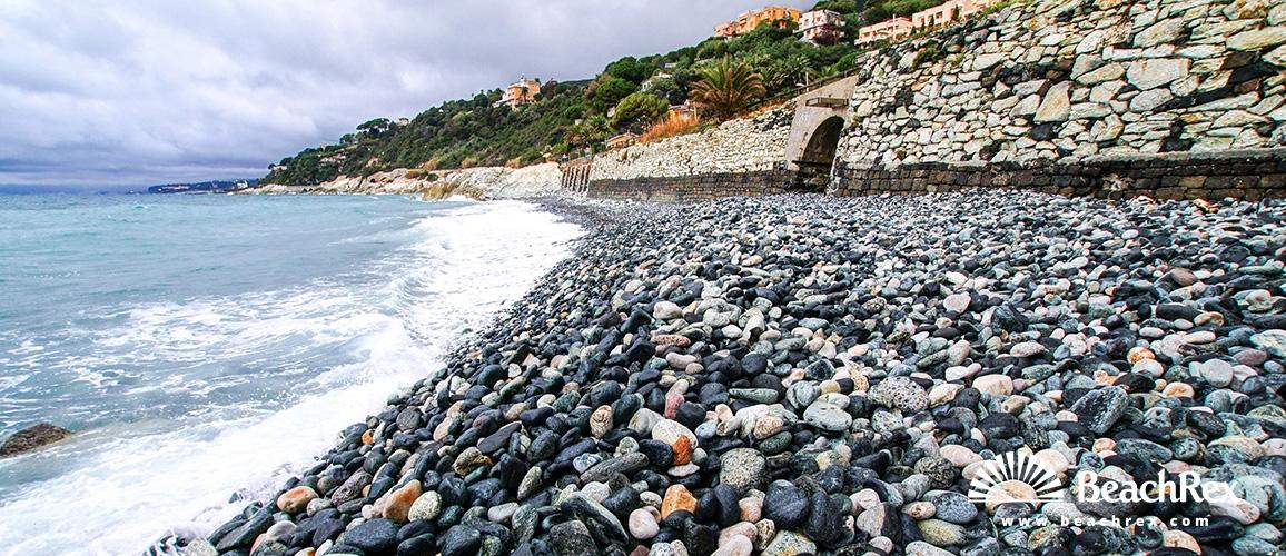 Italy - Liguria -  Varazze - Beach Baia del corvo