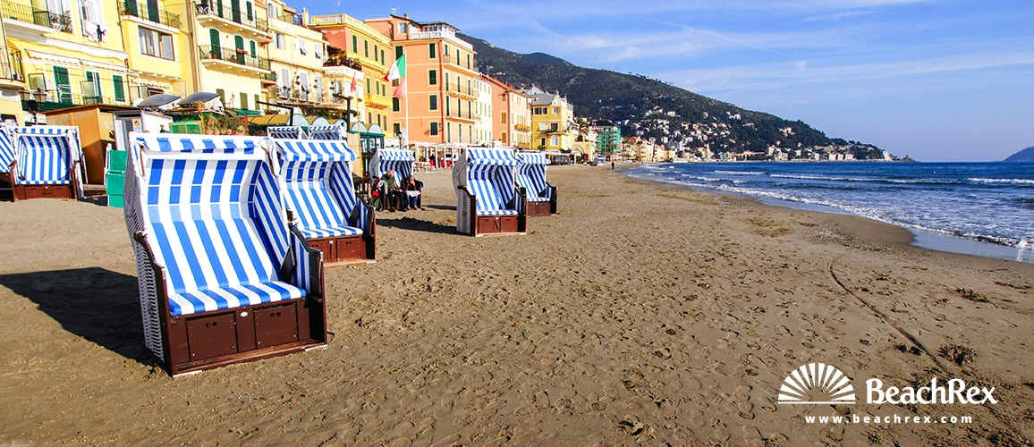 Italy - Liguria -  Alassio - Beach Alassio