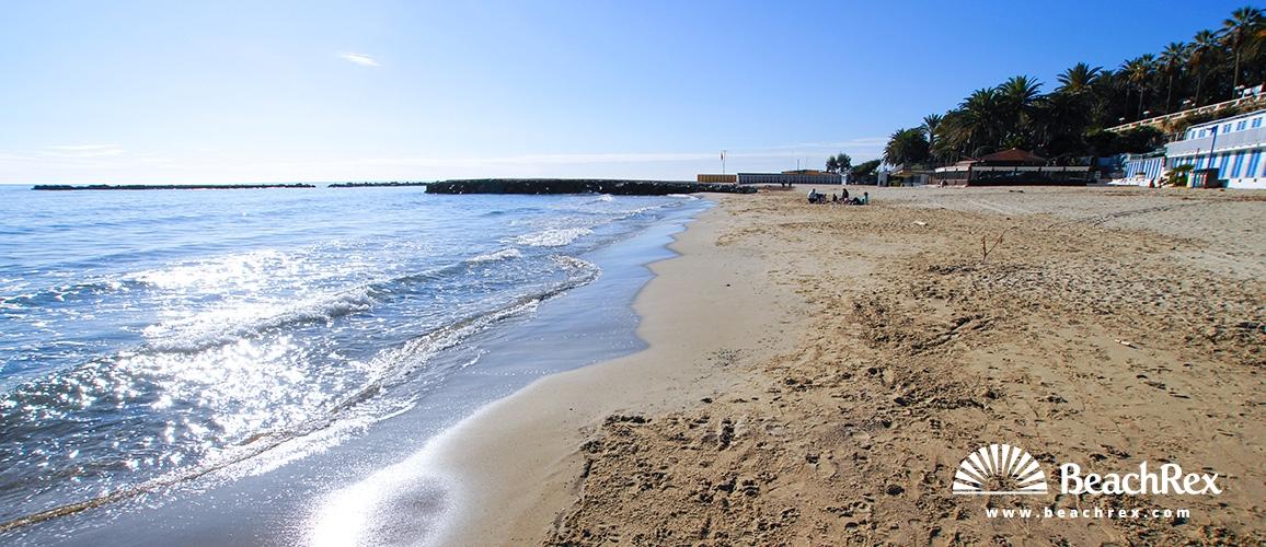Italy - Liguria -  Sanremo - Beach San Pancrazio