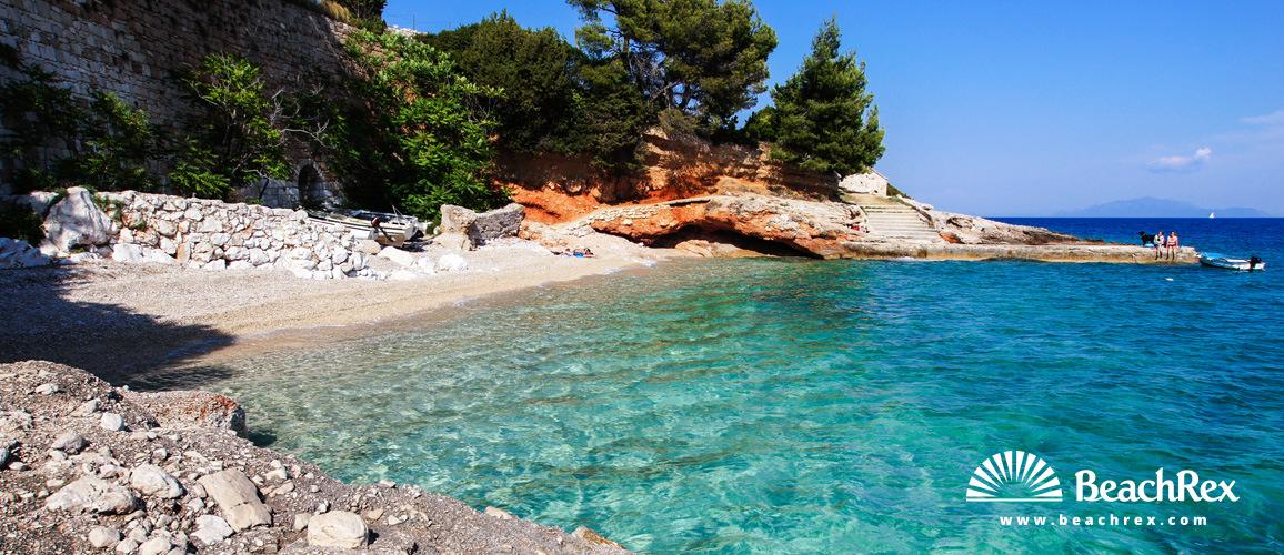 Croatia - Dalmatia  Split - Island Hvar -  Zavala - Beach Skalinada