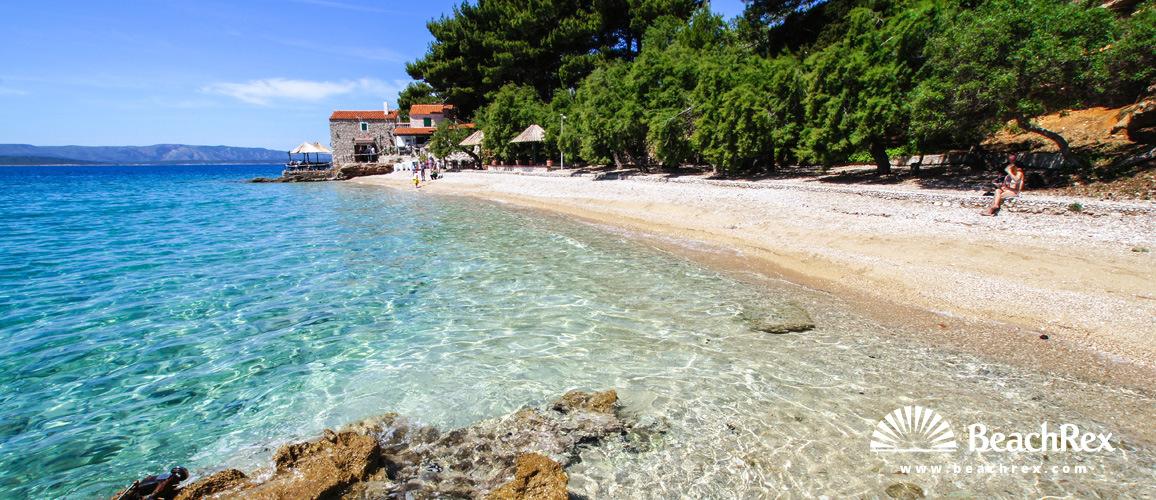 Croatia - Dalmatia  Split - Island Brač -  Bol - Beach Kotlina & Bijela Kuča