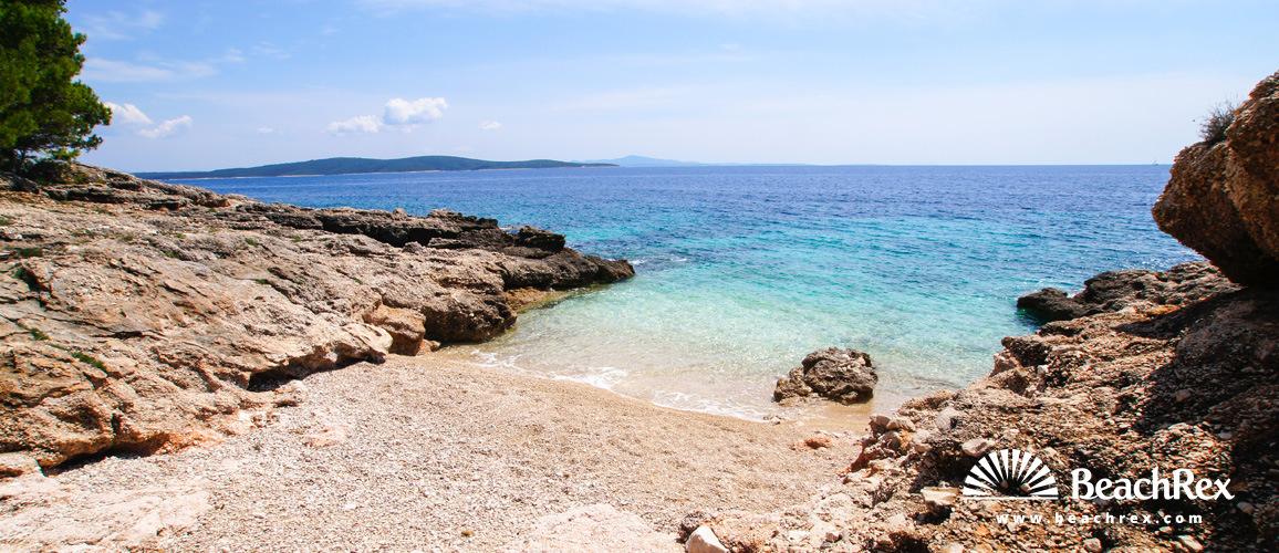 Croatia - Dalmatia  Split - Island Hvar -  Ivan Dolac - Beach Gaži
