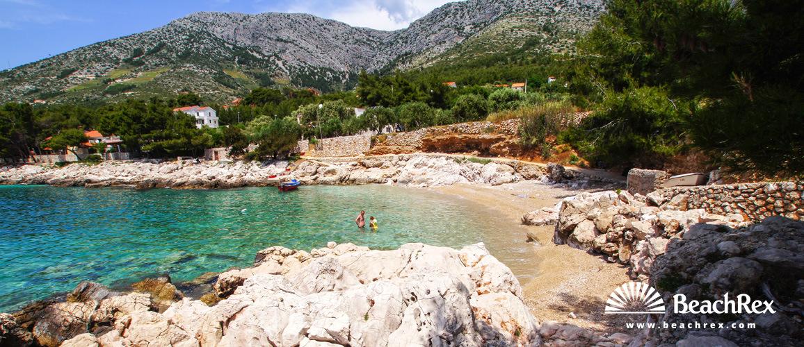 Croatia - Dalmatia  Split - Island Hvar -  Ivan Dolac - Beach Paklina