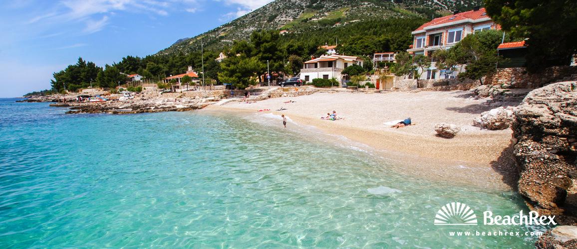 Croatia - Dalmatia  Split - Island Hvar -  Ivan Dolac - Beach Ivan Dolac