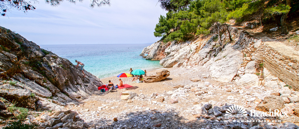 Croatia - Dalmatia  Split - Island Hvar -  Sveta Nedjelja - Beach Jagodna