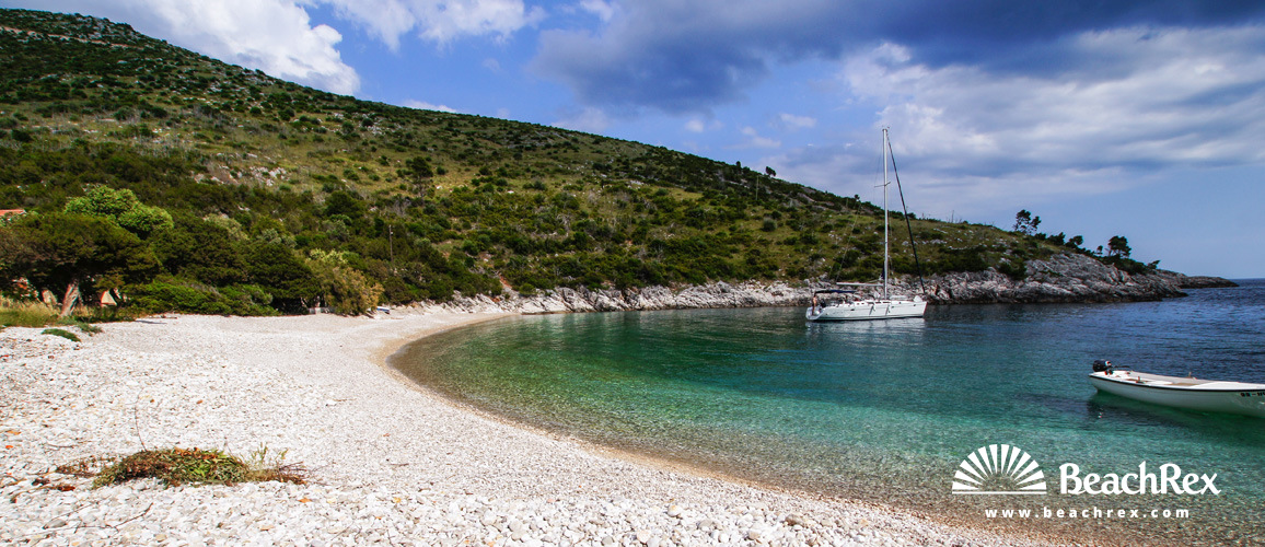 Croatia - Dalmatia  Split - Island Hvar -  Milna - Beach Dubovi dol