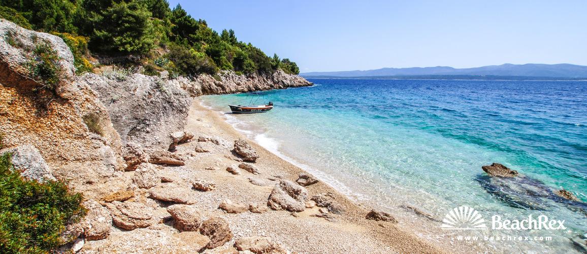 Croatia - Dalmatia  Split - Island Brač -  Murvica - Beach Slatina