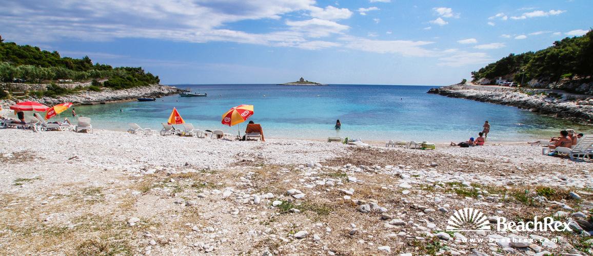 Croatia - Dalmatia  Split - Island Hvar -  Hvar - Beach Pokonji dol