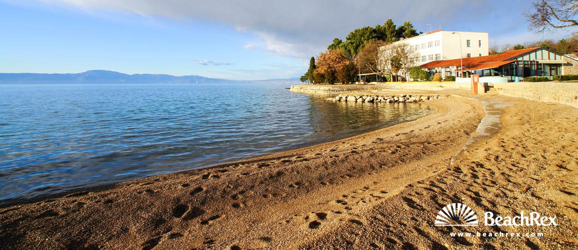 Hrvaška - Kvarner - Otok Krk -  Malinska - Plaža Haludovo