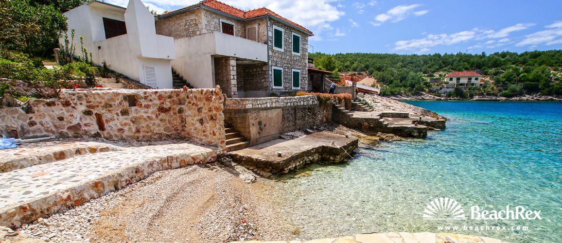 Croatia - Dalmatia  Split - Island Hvar -  Hvar - Beach Calamaro