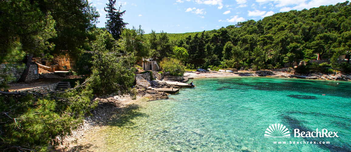 Croatia - Dalmatia  Split - Island Hvar -  Hvar - Beach Lozna