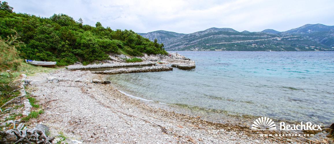 Hrvatska - Dalmacija  Dubrovnik - Otok Korčula -  Pupnat - Plaža Piske