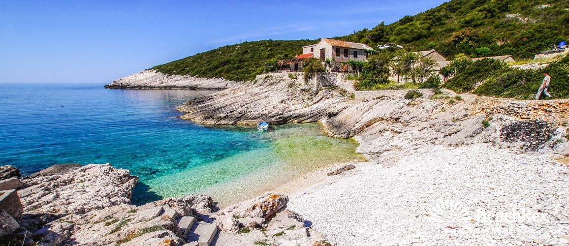 Croatia - Dalmatia  Split - Island Vis -  Marinje Zemlje - Beach Mala Travna
