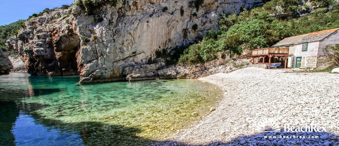 Croatia - Dalmatia  Split - Island Vis -  Marinje Zemlje - Beach Stiniva