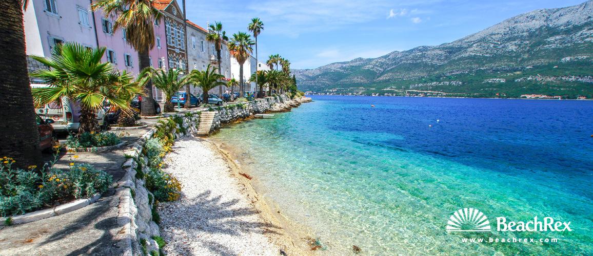 Croatia - Dalmatia  Dubrovnik - Island Korčula -  Korčula - Beach Ispod Duvana