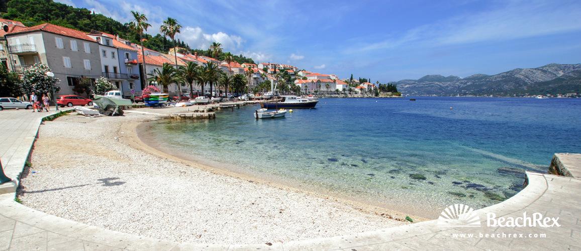Croatia - Dalmatia  Dubrovnik - Island Korčula -  Korčula - Beach Spomenik