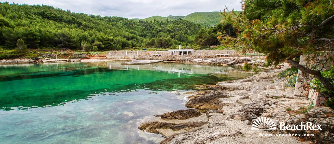 Croatia - Dalmatia  Split - Island Hvar -  Jelsa - Beach Zenčišće