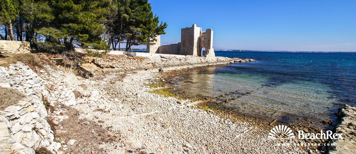 Croatia - Dalmatia  Zadar - Island Vir -  Kozjak - Beach Kaštelina