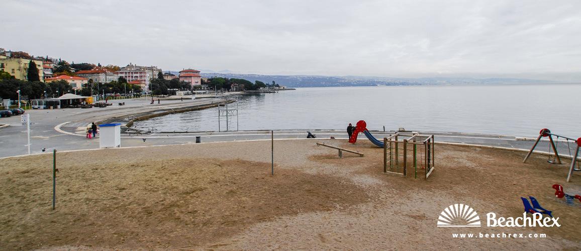 Croatia - Kvarner -  Opatija - Beach Slatina