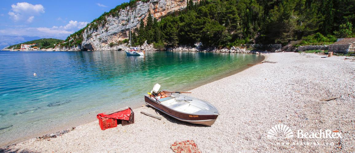 Croatia - Dalmatia  Split - Island Hvar -  Pokrivenik - Beach Veliki Pokrvenik