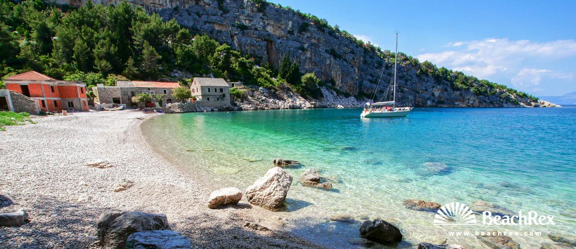 Hrvatska - Dalmacija  Split - Otok Hvar -  Pokrivenik - Plaža Veliki Pokrvenik