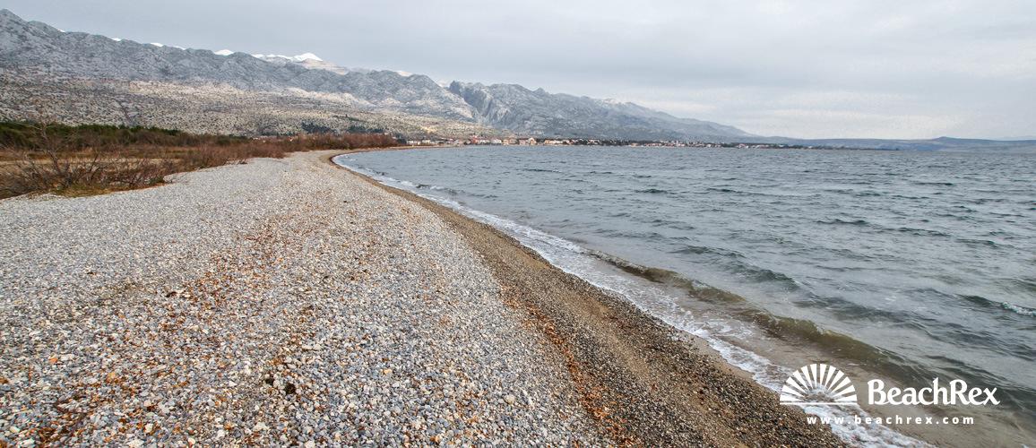 Croatia - Dalmatia  Zadar -  Starigrad Paklenica - Beach Većka kula