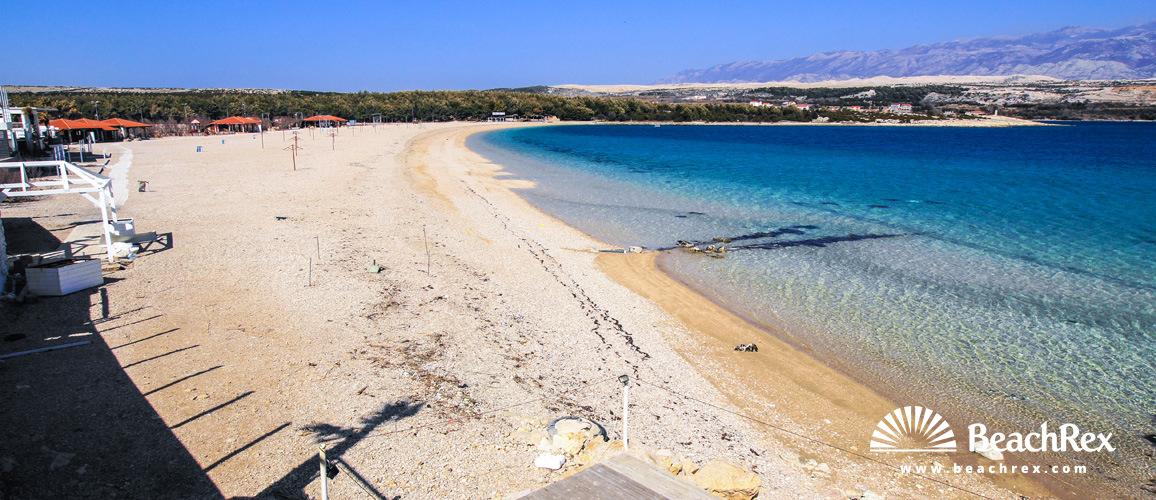 Croatia - Lika - Island Pag -  Novalja - Beach Zrće