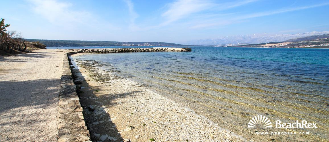 Croatia - Dalmatia  Zadar -  Karin Gornji - Beach Karin Gornji