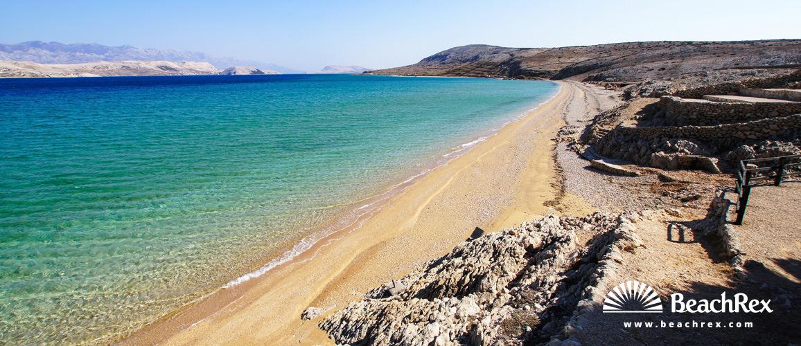 Croatia - Dalmatia  Zadar - Island Pag -  Kolan - Beach Čista