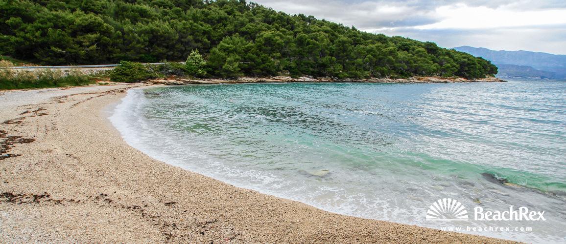 Croatia - Dalmatia  Split - Island Brač -  Splitska - Beach Zastup