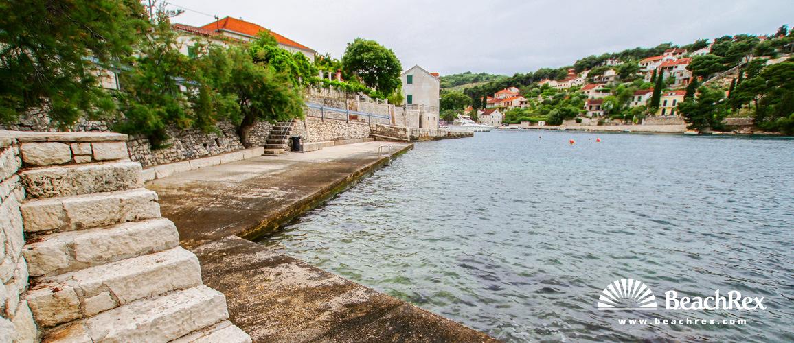 Croatia - Dalmatia  Split - Island Brač -  Splitska - Beach Uvala Splitska