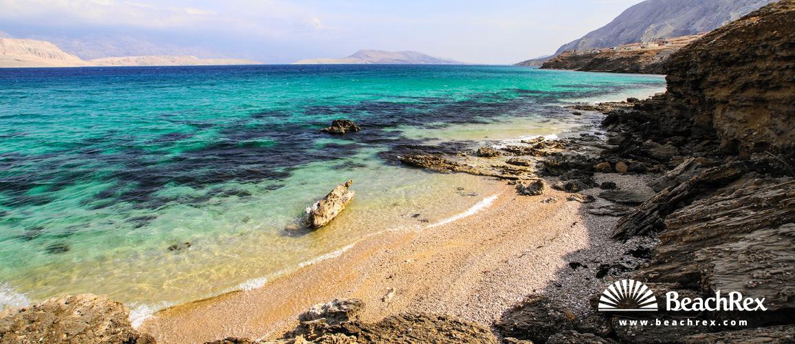 Croatia - Dalmatia  Zadar - Island Pag -  Pag - Beach Sv. Marija