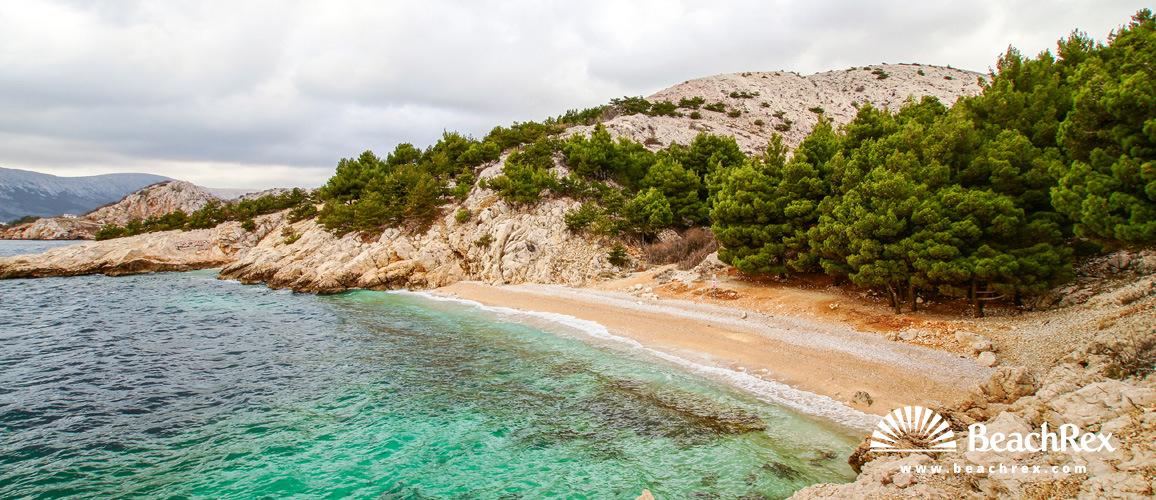 Croatia - Kvarner - Island Krk -  Baška - Beach Jablanova
