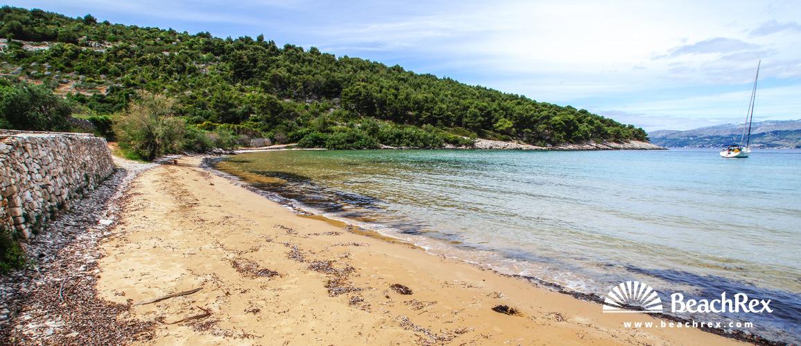 Croatia - Dalmatia  Split - Island Brač -  Postira - Beach Lovrečina