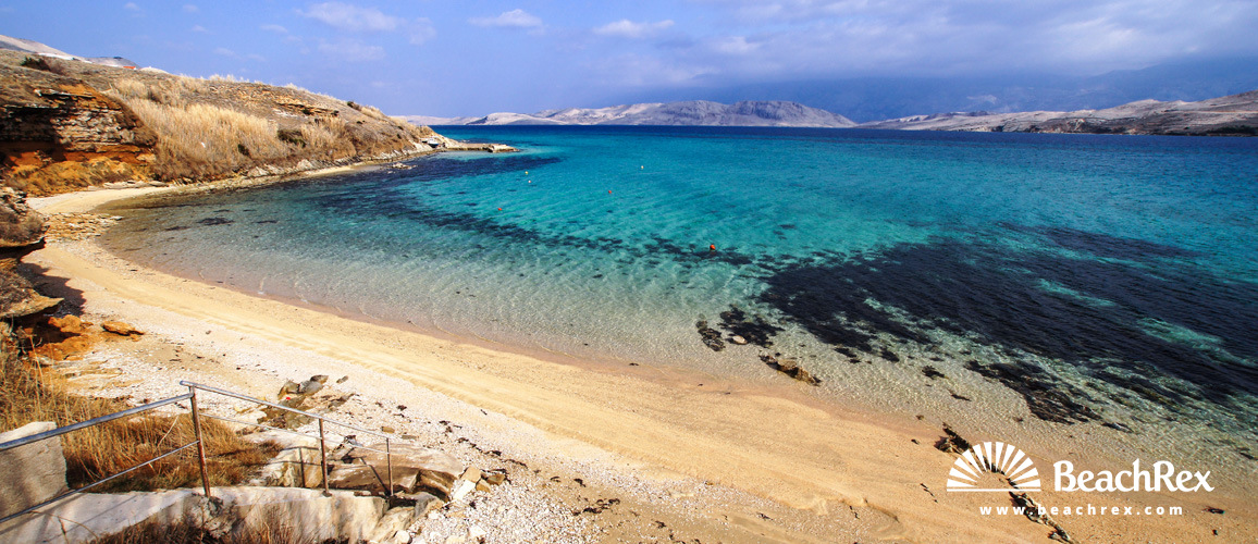 Croatia - Dalmatia  Zadar - Island Pag -  Pag - Beach Pirka