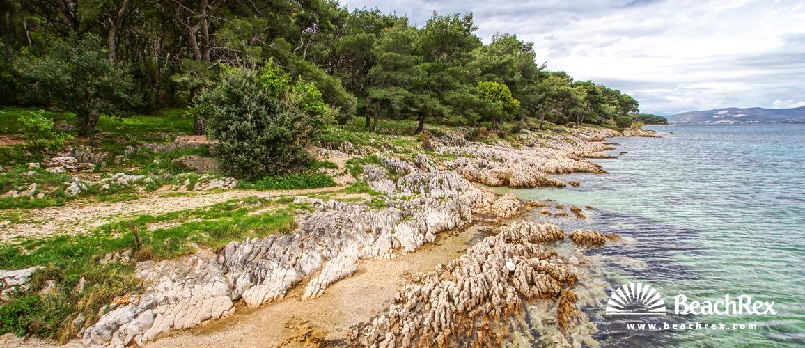 Croatia - Dalmatia  Split -  Split - Beach Prva Voda