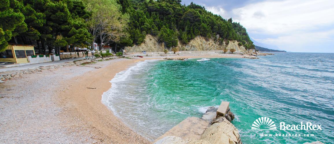 Hrvaška - Dalmacija  Split -  Brela - Plaža Podcrkavlje